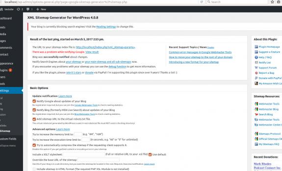 wordpress tutorial xml sitemaps für google erstel